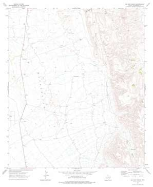 Six Bar Ranch topo map