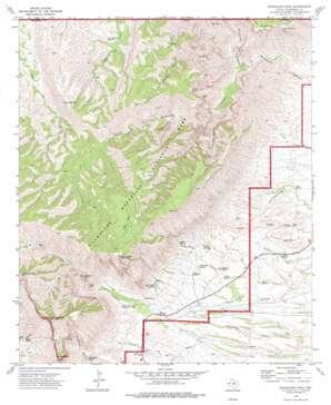 Guadalupe Peak topo map