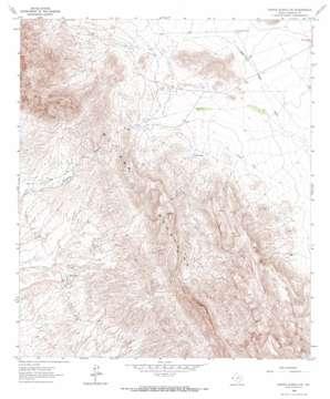 Sierra Blanca Sw topo map