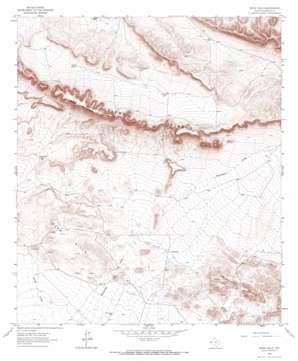 Bean Hills topo map