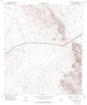 Silver King Canyon topo map