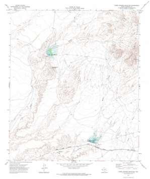 Campo Grande Mountain topo map