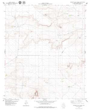 Gunsight Hills North topo map