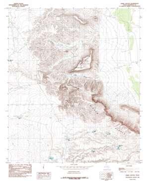 Babb Canyon topo map