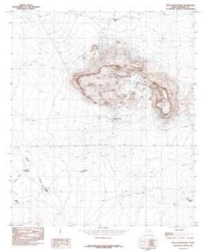 Black Mountains topo map