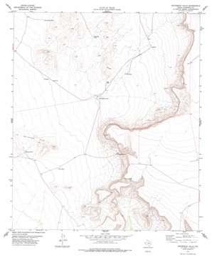 Whiterock Hills topo map