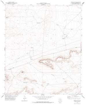 Tepee Butte topo map