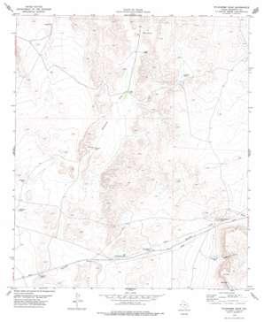 Wildhorse Draw USGS topographic map 31105f7