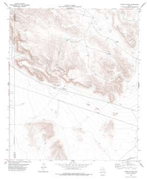 Padre Canyon topo map