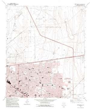 Fort Bliss Se topo map