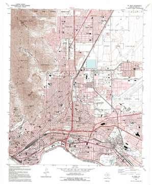 El Paso topo map