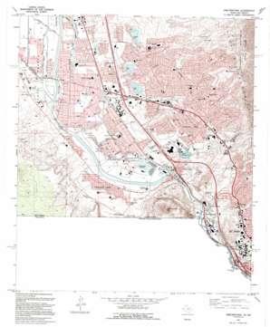 Smeltertown topo map