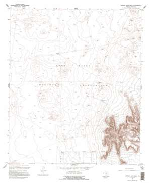 Nations East Well topo map