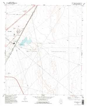 Fort Bliss NE USGS topographic map 31106h3