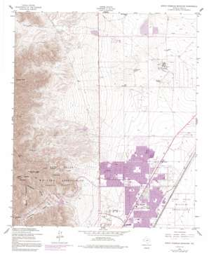 North Franklin Mountain USGS topographic map 31106h4