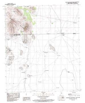 Whitewater Mountains topo map