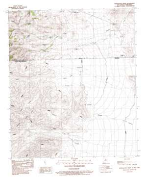 Whitewater Creek topo map