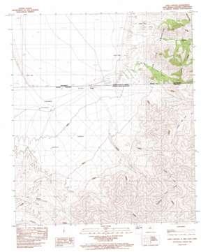 Lang Canyon topo map