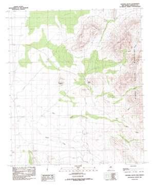Sentinel Butte topo map