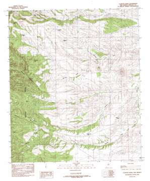 Clanton Draw topo map