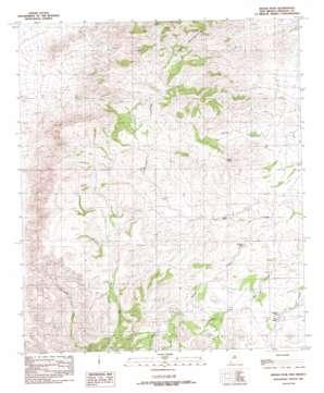 Indian Peak topo map