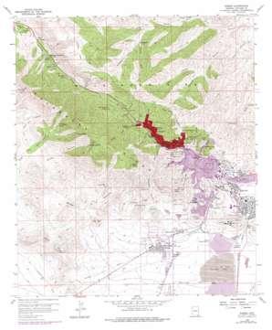 Bisbee topo map