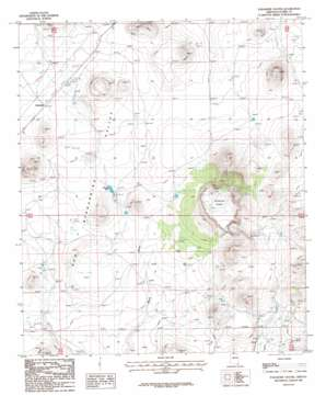 Paramore Crater topo map