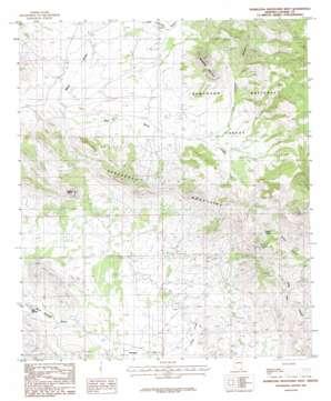 Pedregosa Mountains West topo map