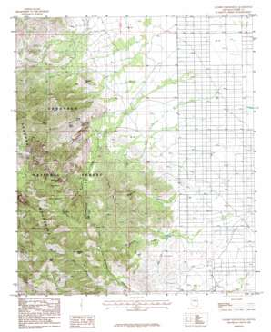 Cochise Stronghold topo map