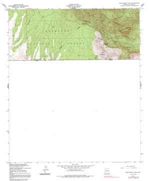Montezuma Pass topo map