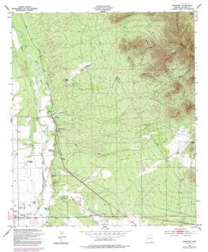 Hereford topo map