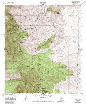 Harshaw topo map