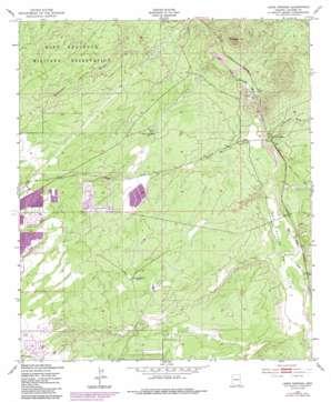 Lewis Springs topo map