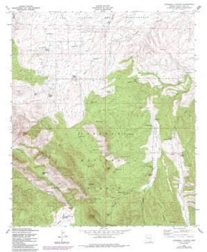 O'Donnel Canyon topo map