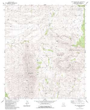 San Cayetano Mountains USGS topographic map 31110e8