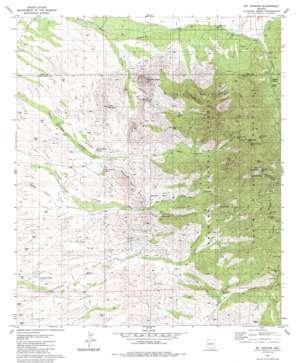 Mount Hopkins topo map