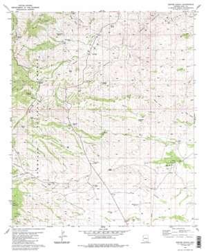 Empire Ranch topo map