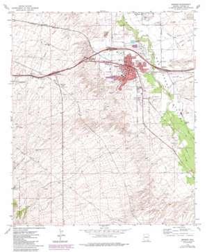 Benson topo map