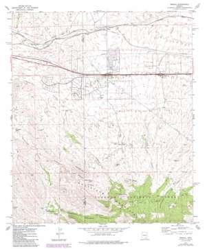 Mescal topo map