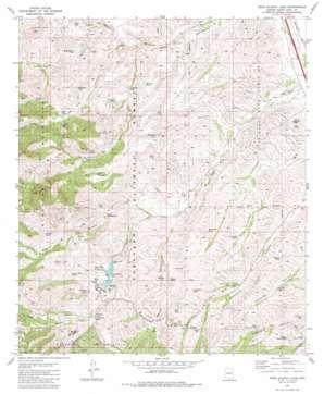 Pena Blanca Lake topo map