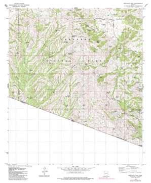 Bartlett Mountain topo map
