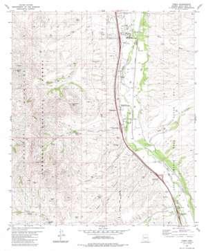 Tubac topo map