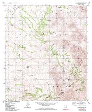 Wilbur Canyon topo map