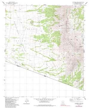 Caponera Peak topo map