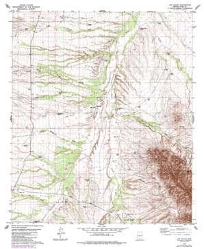 Las Guijas topo map