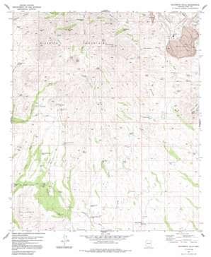 Batamote Hills topo map