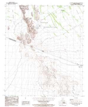 La Lesna Mountains topo map