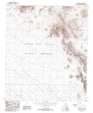 Diaz Peak topo map