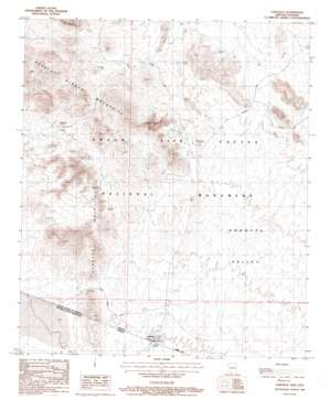 Lukeville topo map