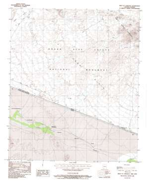 West Of Lukeville topo map